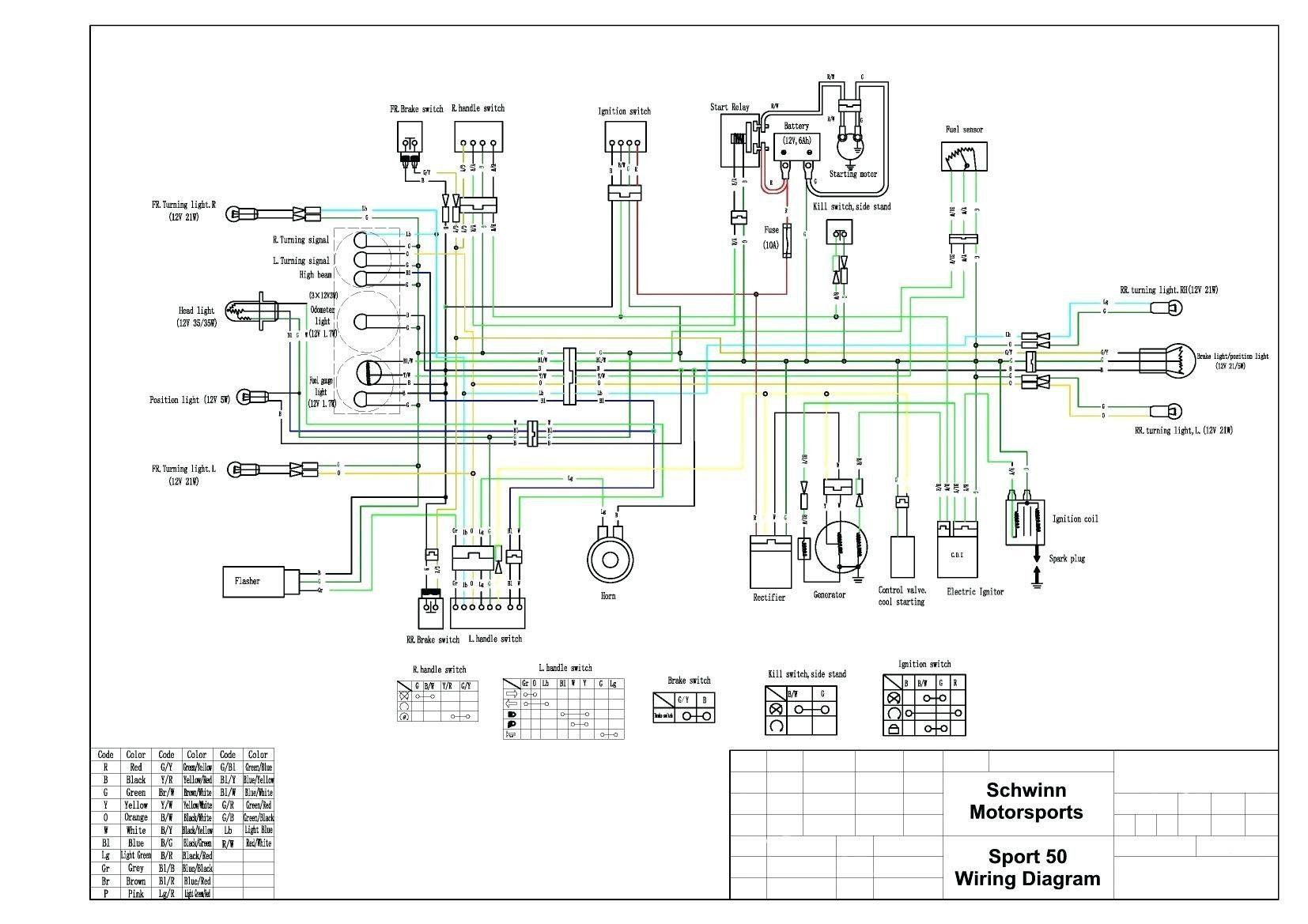 Taotao 50 Wiring Diagram New in 2020 Electrical wiring