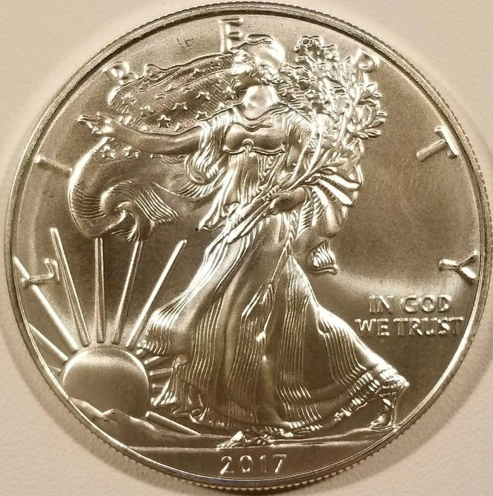 2017 American Silver Eagle 1oz 999 Fine Silver Bullion Bu American Silver Eagle Silver Bullion Coins Silver Bullion