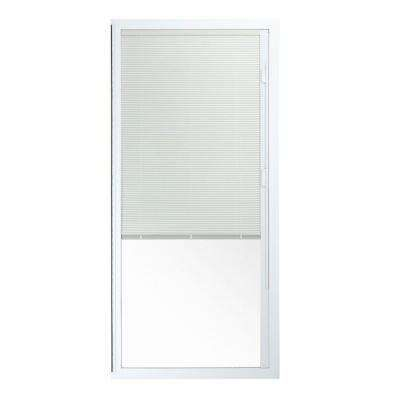 72 In X 80 In 50 Series White Vinyl Sliding Patio Door Left Hand Fixed Panel With Blinds Exterior Doors Patio Doors Vinyl Sliding Patio Door
