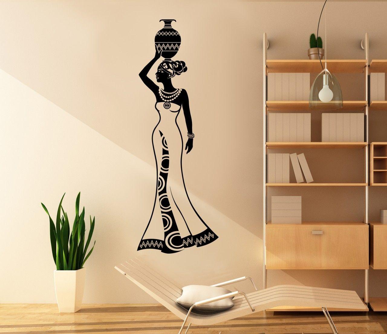 African woman wall expressions salon decor pinterest art