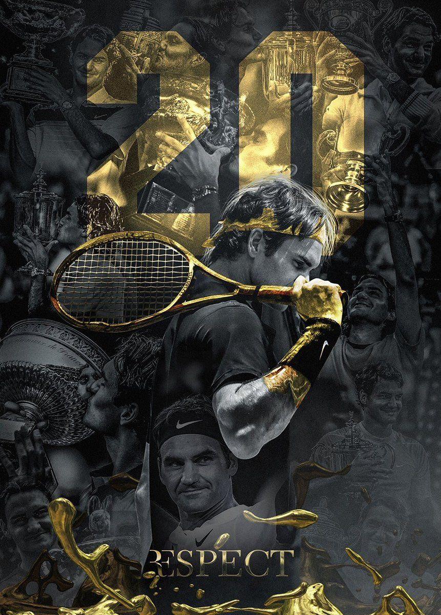 Cesaro on Twitter | Roger federer, Gold poster, Tennis wallpaper