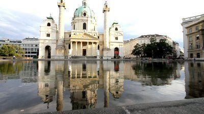 karlskirche vienna   Vienna, Austria - famous Karlskirche (Saint Charles Church)