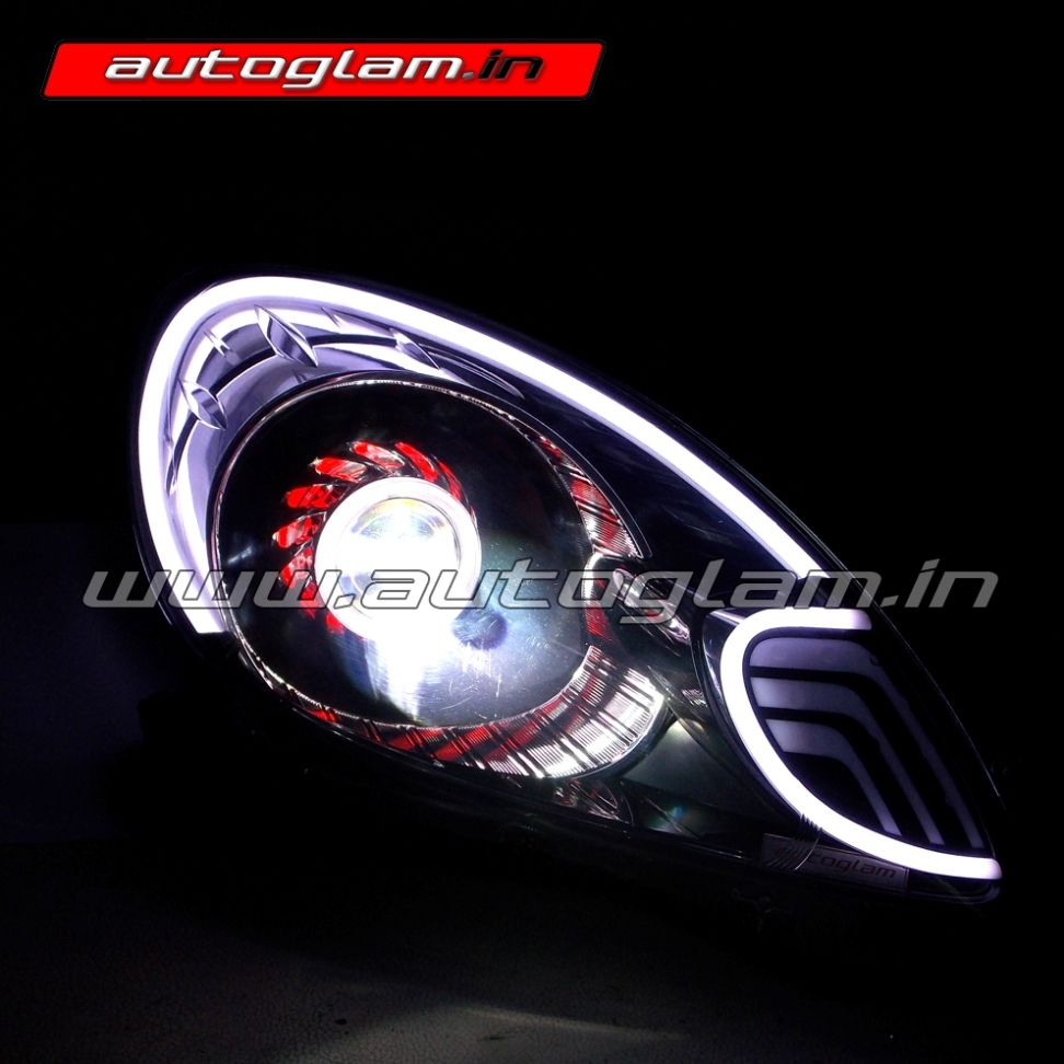 Honda Amaze Audi Style Projector Headlights Custom Headlights Lampu