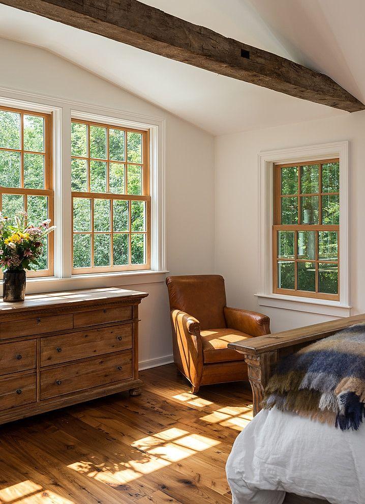 Massachusetts Farm House by Crisp Architects Oak bedroom