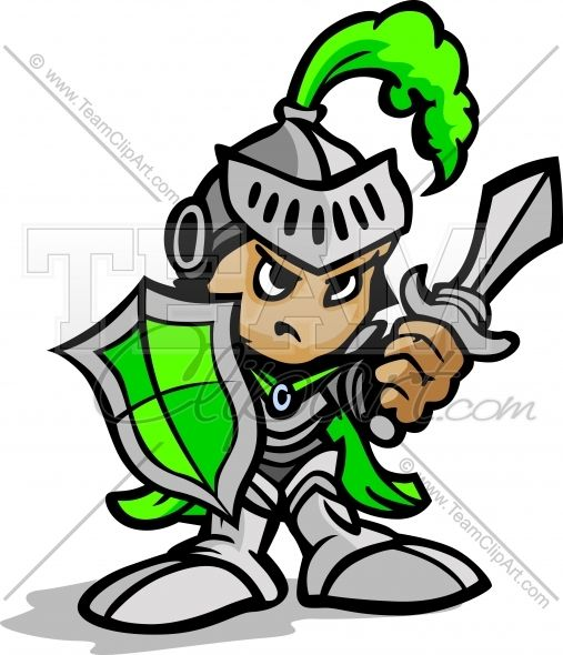 Sword warrior. Knight cartoon holding and