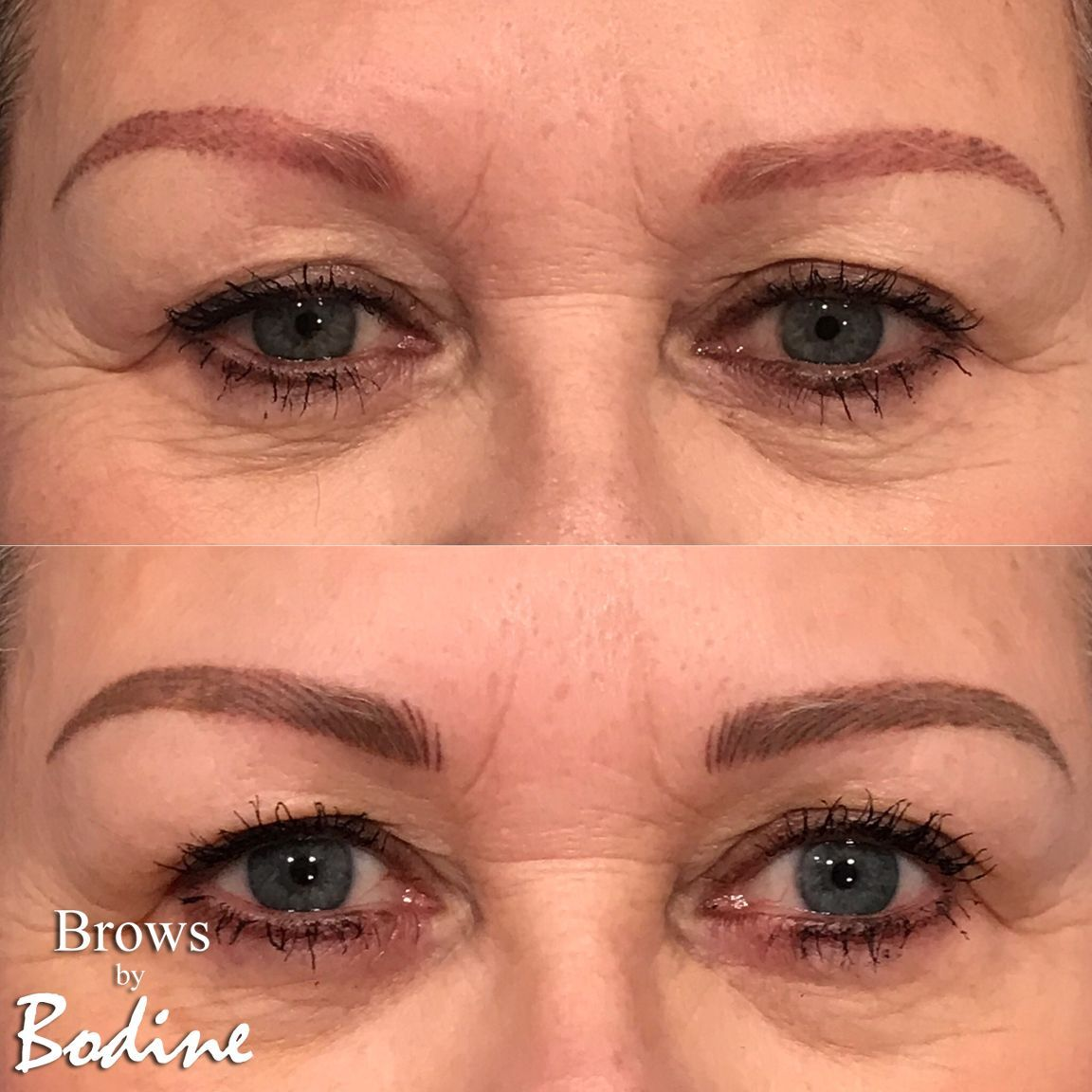 Using Microblading and color correction to cover a tattoo