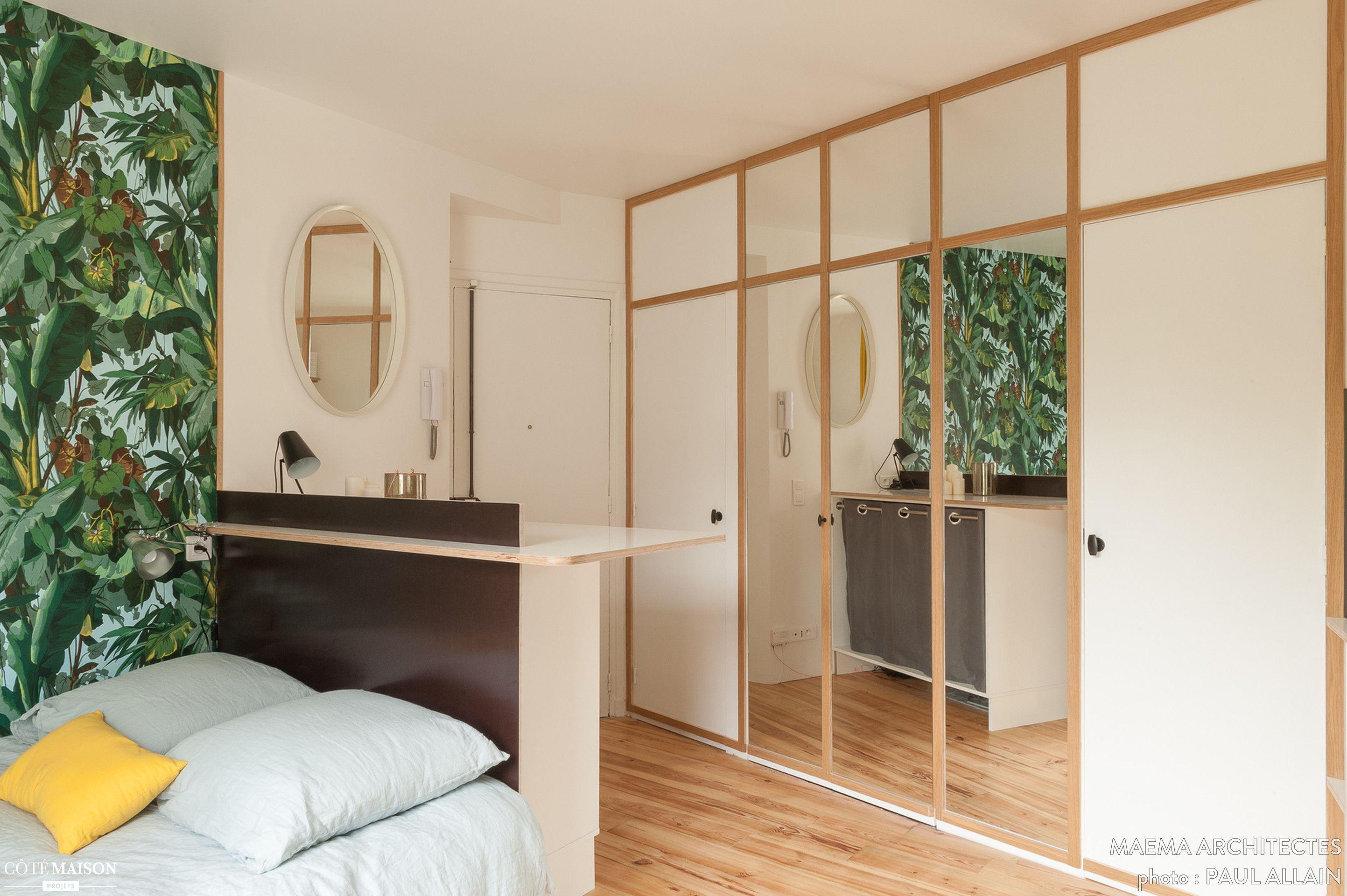 Un studio parisien sobre et l gant paris ma ma - Architecte interieur paris petite surface ...