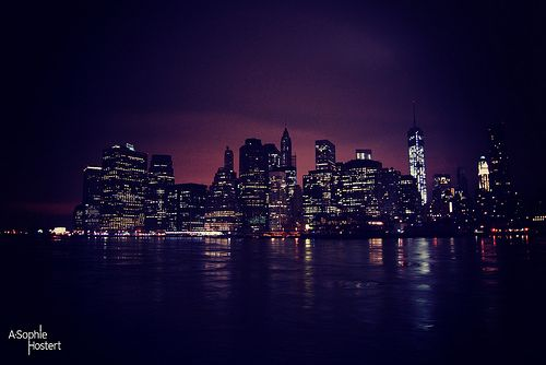 New york city by night by Anne-Sophie Hostert