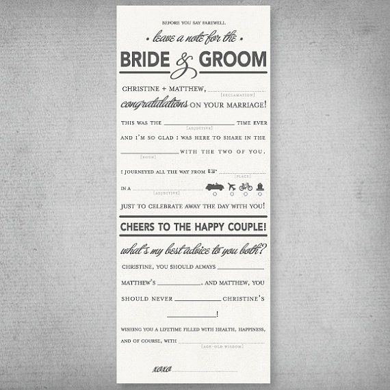 This is a really cute idea instead of a wedding guest book!