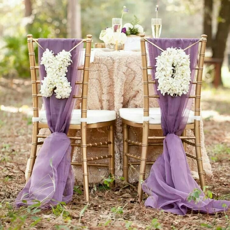 Instead of chair covers....
