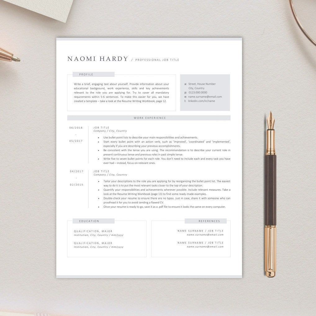 An elegant and modern resume template is available at our