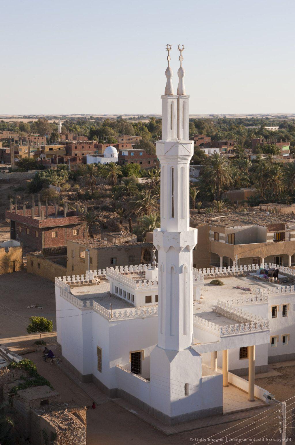 View On Old Town El Qasr In Dakhla Oasis Libyan Desert