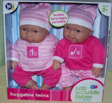 """Lots to Cuddle Babies 15"""" Twins Dolls sold at Kmart 