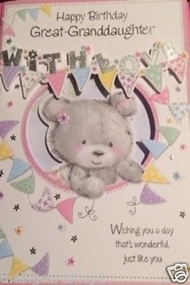 Happy Birthday Great Granddaughter Quality Cards