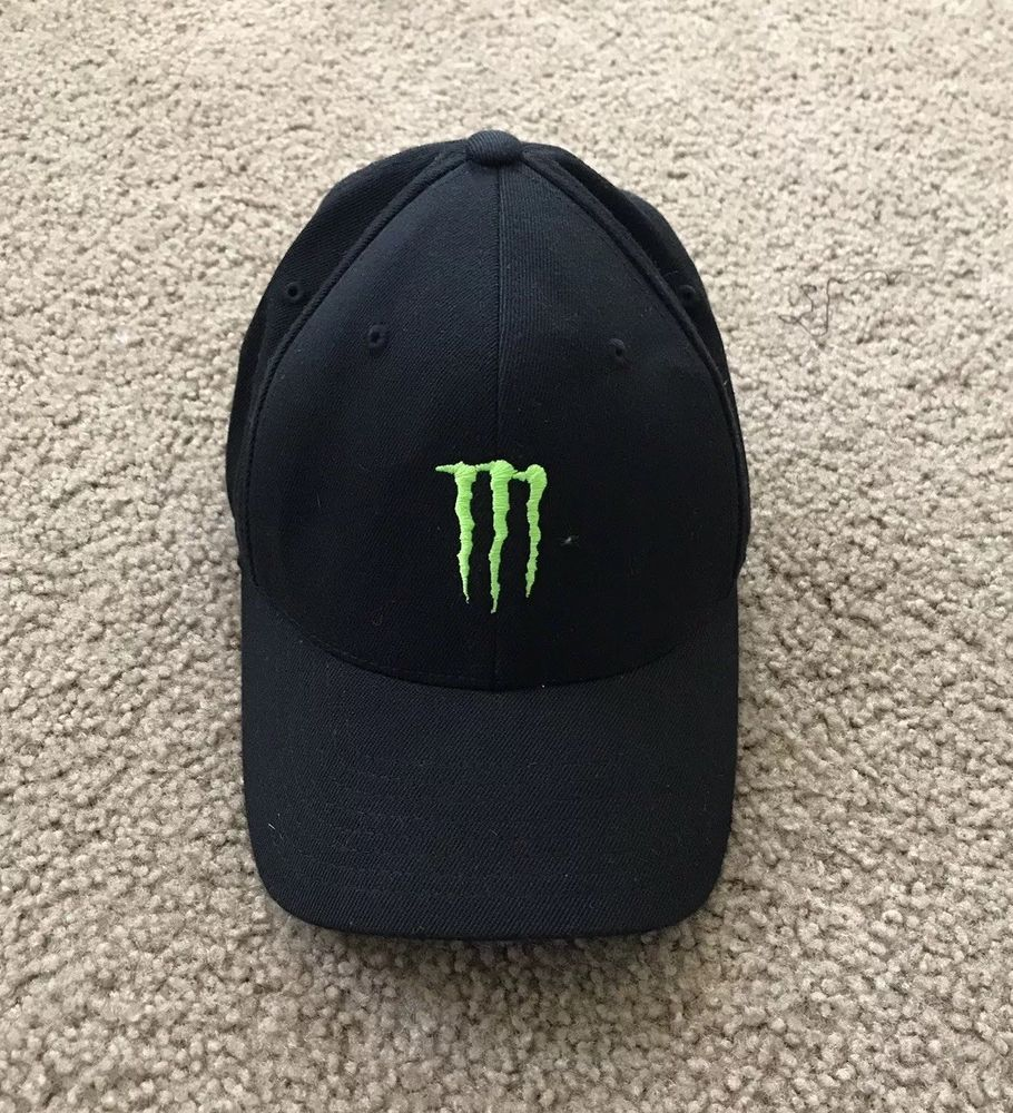01823af2 MONSTER ENERGY DRINK Hat Cap Size Small To Medium Not Adjustable ...