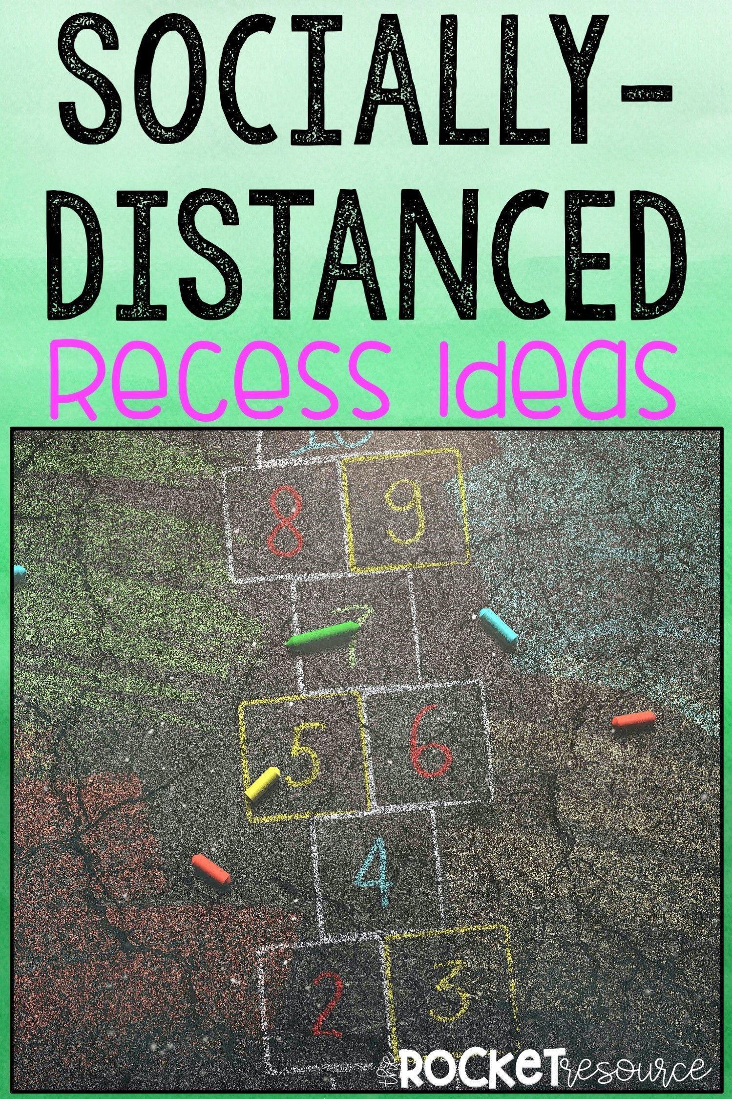 SociallyDistanced Recess Ideas The Rocket Resource in