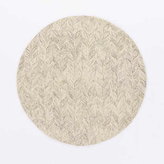 Vines Wool Rug Round Wool Rug Round Carpets Rugs