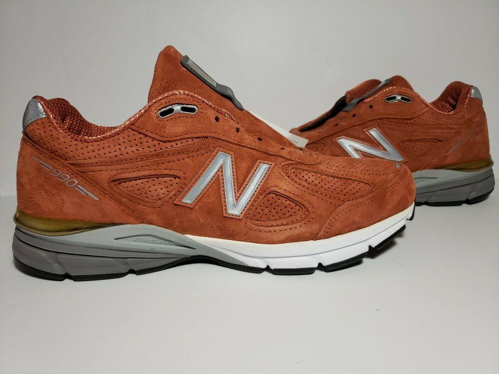 black and orange new balance 990