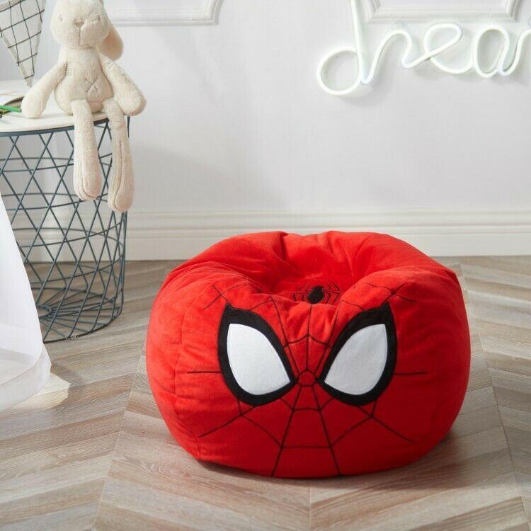 Child bean bag chair marvel spiderman toddler spot