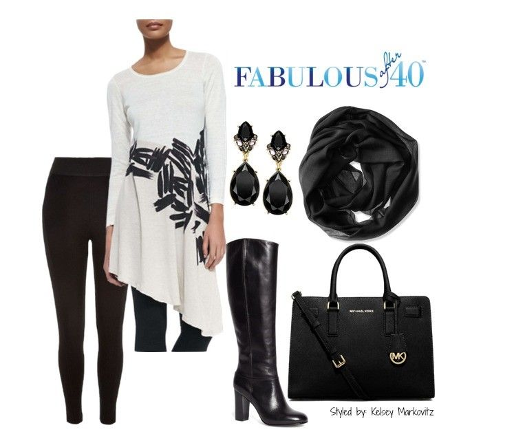 58396cfe327 Asymmetrical Tunic Tops with Leggings 3 ways to wear | Black & White ...