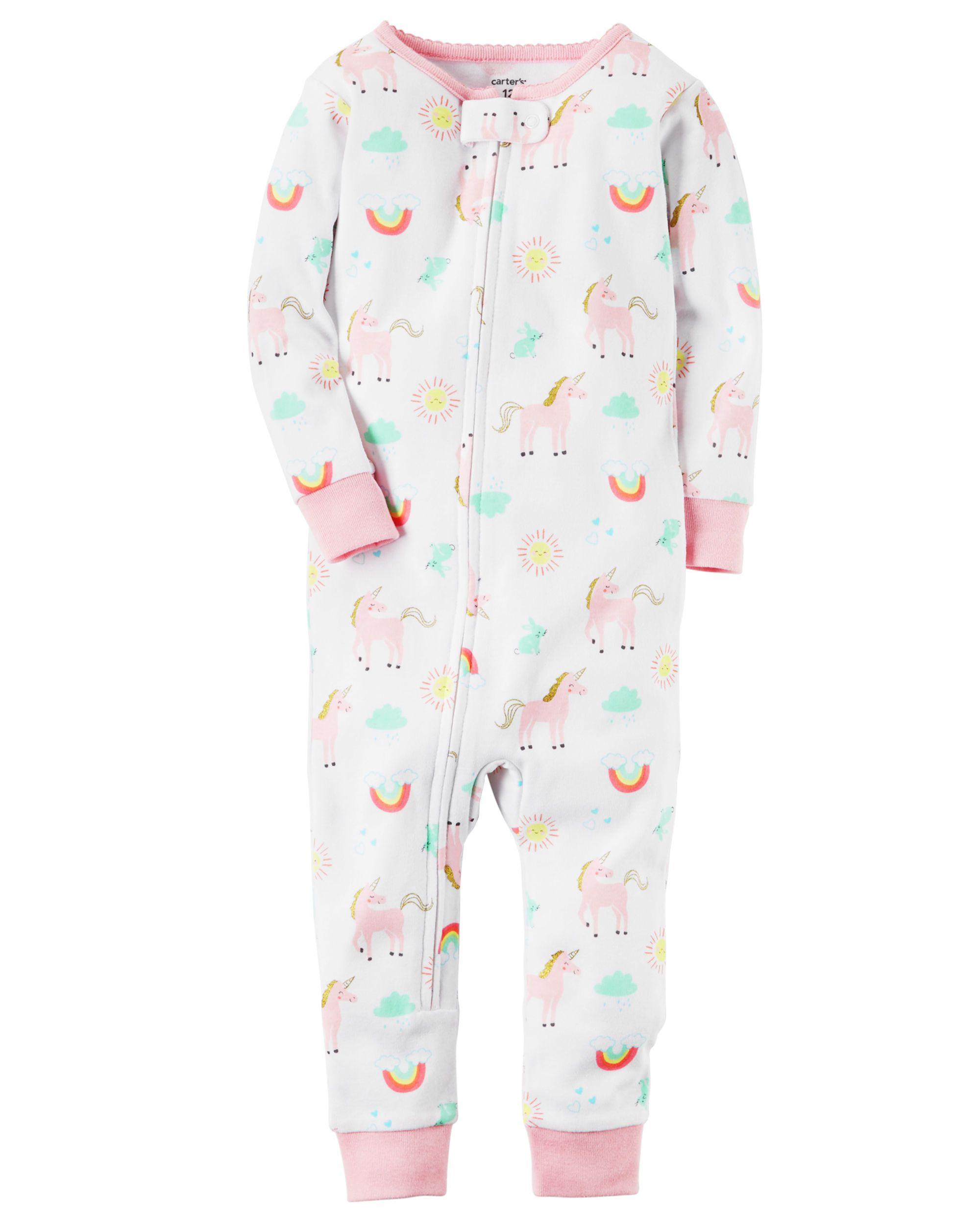 Toddler Girl 1-Piece Snug Fit Cotton Footless PJs | Carters.com