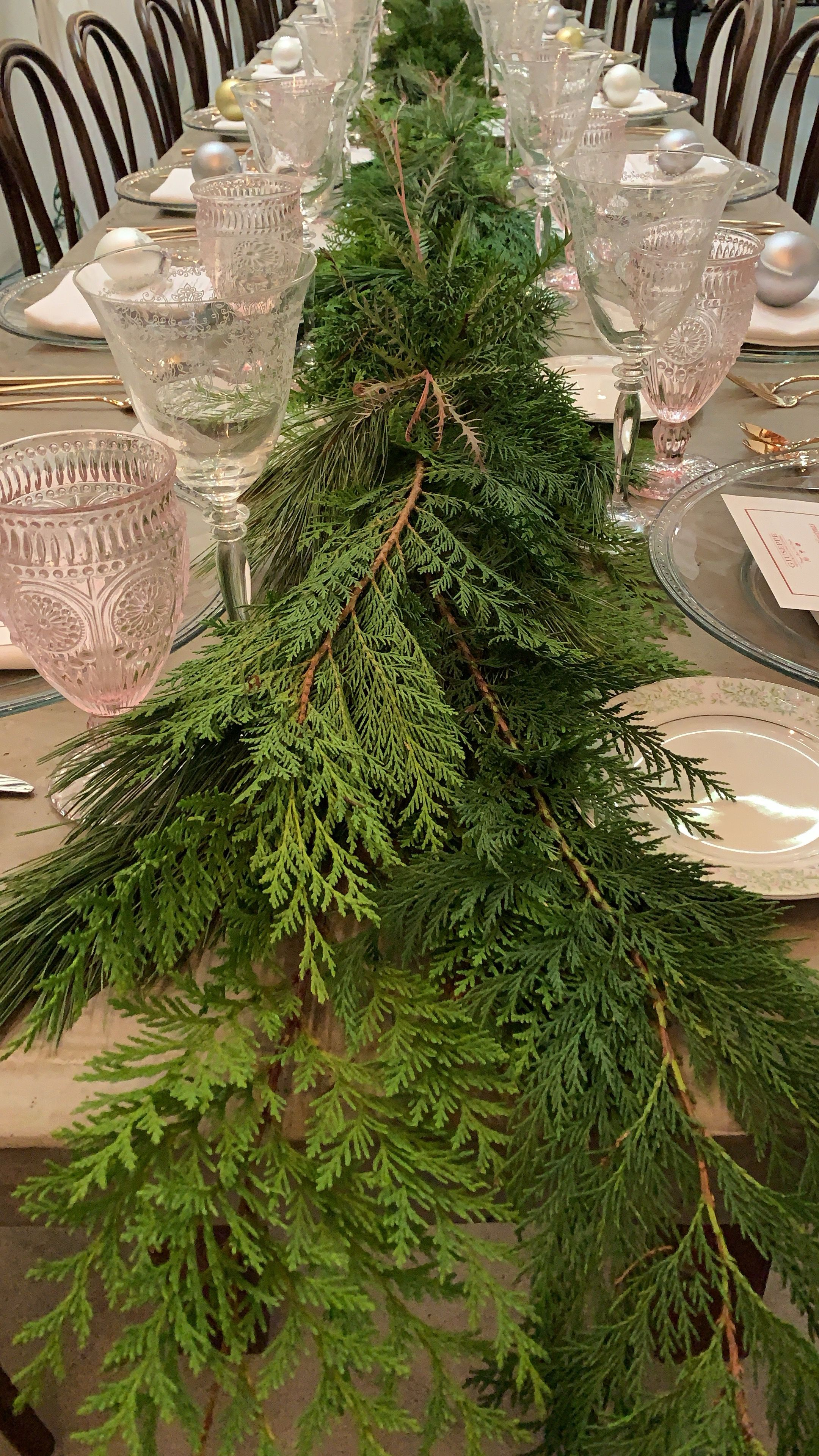 Pine Table Runner Holiday Table Decorations Holiday Decor Christmas Christmas Runner