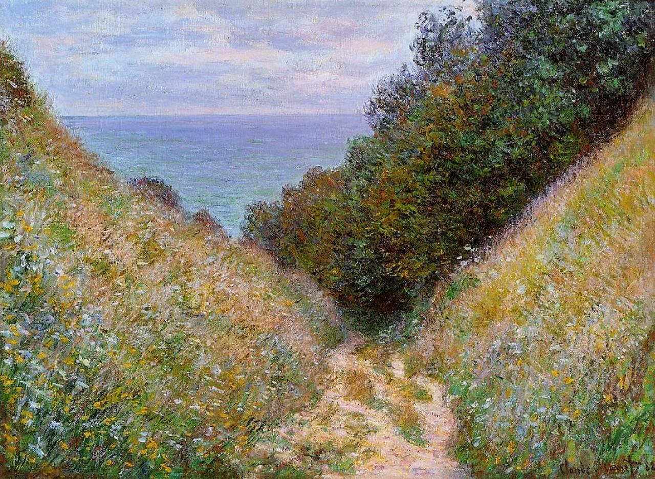 Claude Monet, The Path at La Cavee, Pourville, 1882   Claude monet, Artist  monet, Monet