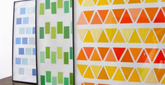 Paint Chips Turned Wall Art | Homesessive.com | Crafts | Pinterest ...