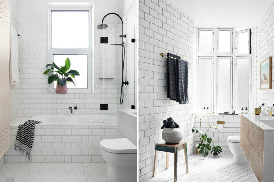 Exceptional Scandinavian Bathrooms With White Tiles