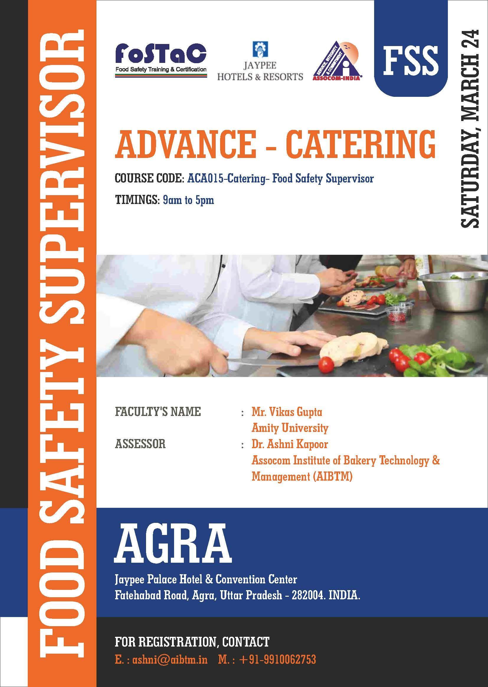 FoodSafetySupervisor Training Program on ADVANCE