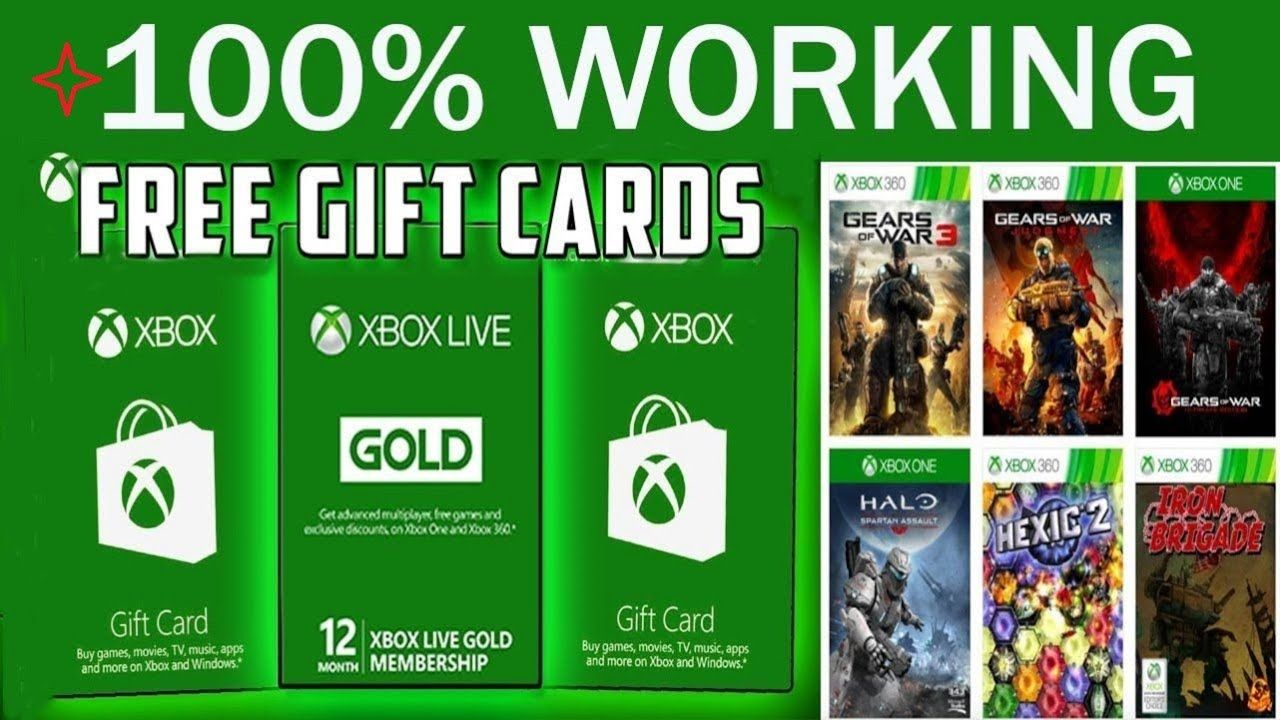 Get free xbox gift card codes free xbox codes 2020 in