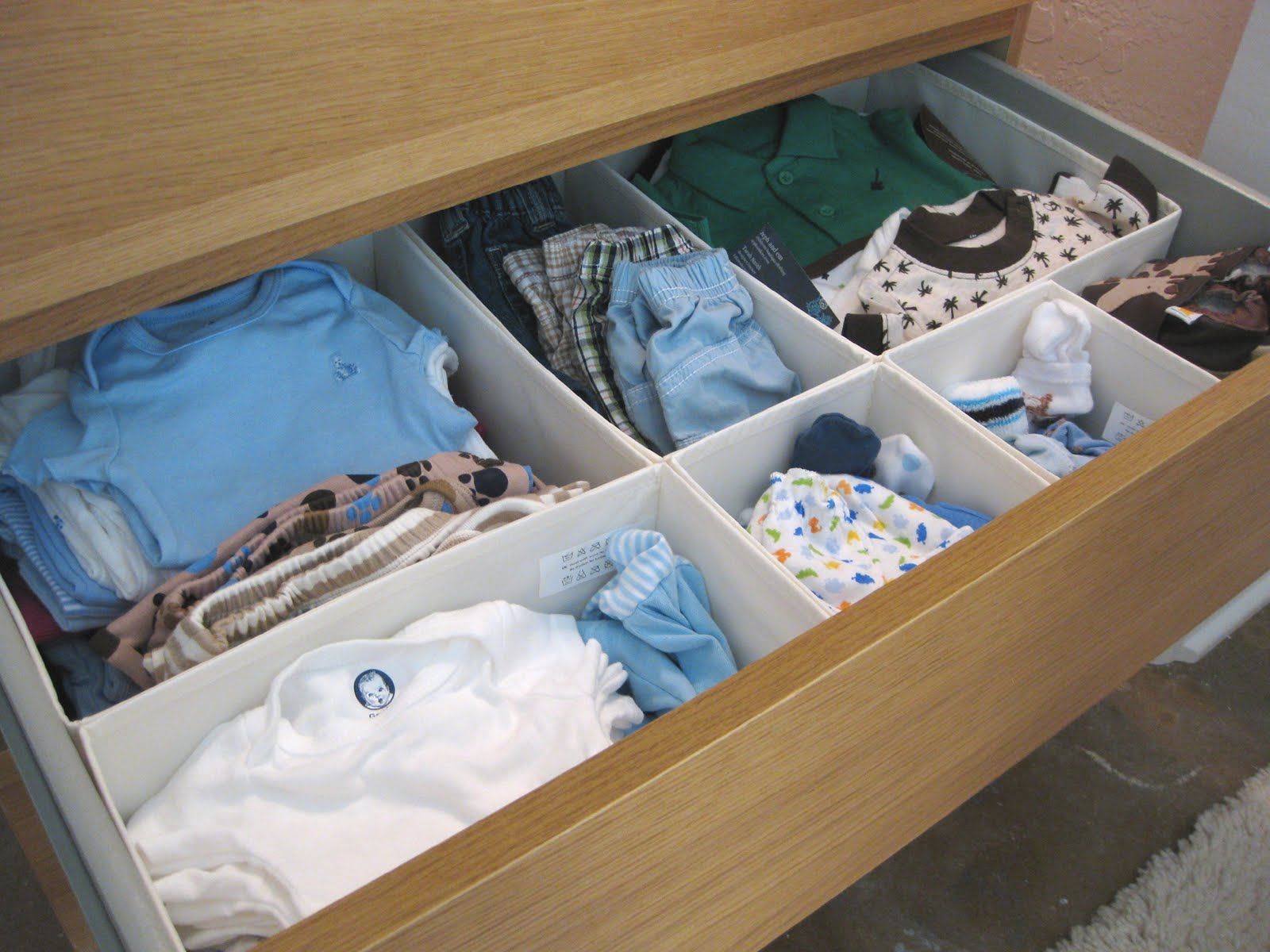 Week 33 Getting Organized Baby Dresser Organization Diy