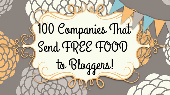 The following companies send free    food  to bloggers . Can't beat free food and  when the  brand allows giveaways, those get the ...