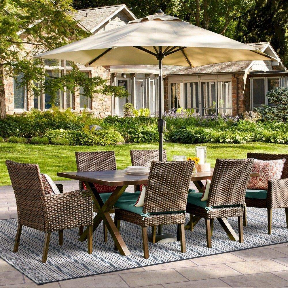 Halsted 7pc Patio Dining Set Turquoise Threshold Patio