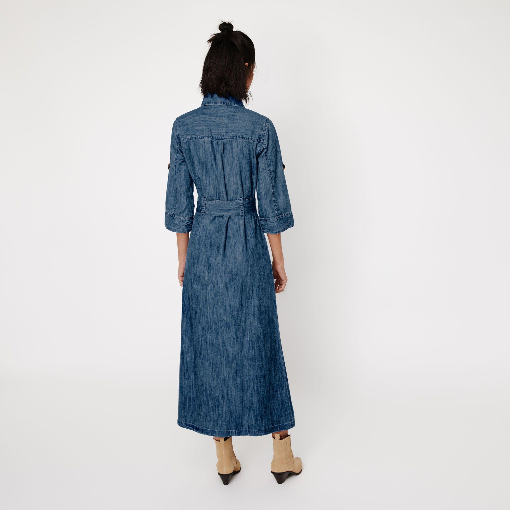 Warehouse, DENIM MAXI SHIRT DRESS Light Wash Denim 3 | Dresses ...