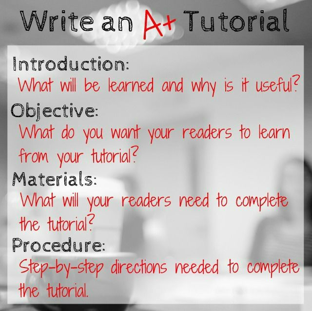Write An A Tutorial  Crafterminds  Tips Blogging