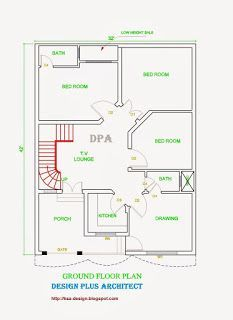 marla house plan design elevation also rh pinterest