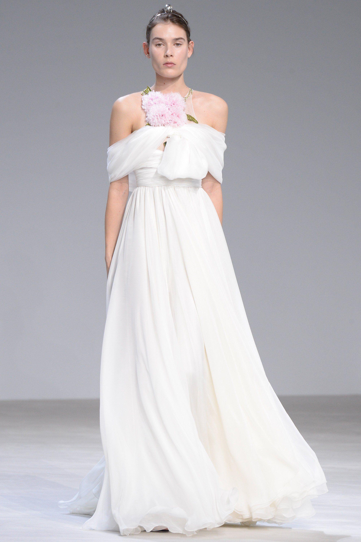 Giambattista Valli Haute Couture - A bride with a built-in bouquet.