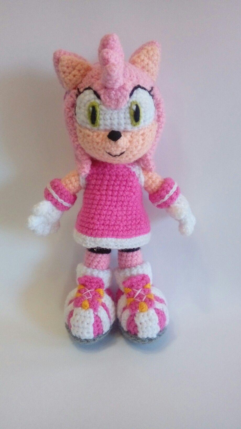 Amy Rose de Sonic by Jennita de Amor