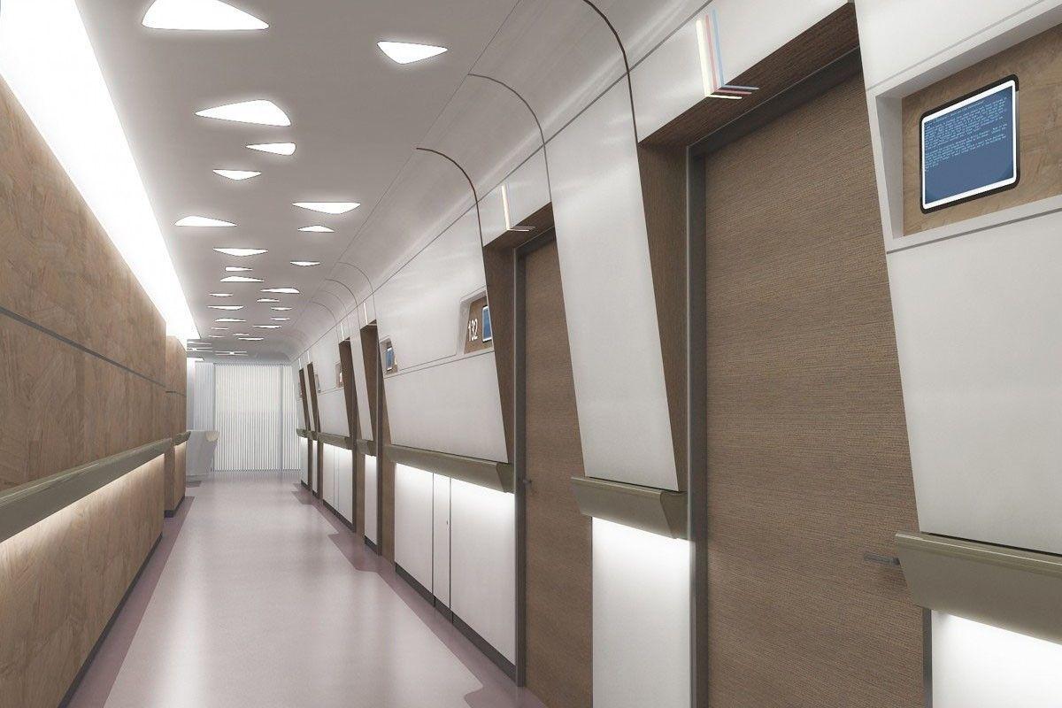 Hospital Corridor Lighting Design: LIV HOSPITAL / ANKARA / Render / HASTA KORİDORU