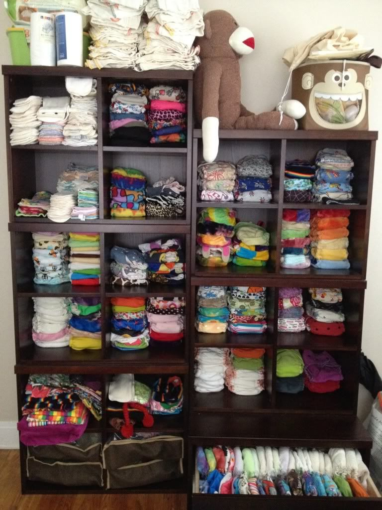 Geez This Is A Lot Of Diapers Cloth Diaper Stash Storage