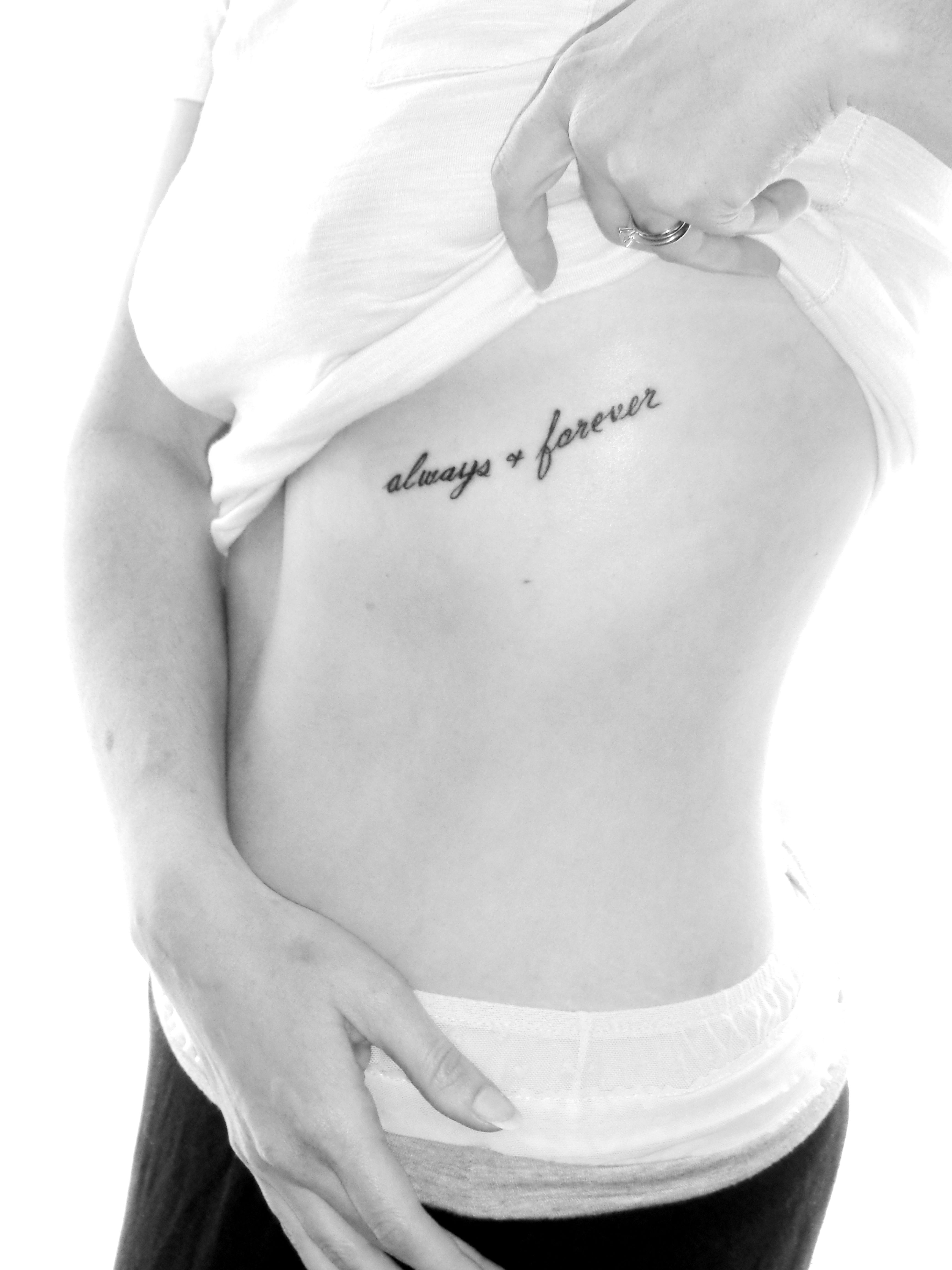 Forever And Always Tattoos my new tattoo, always ...