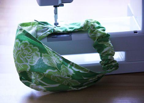elastic headscarf tutorial #sewing