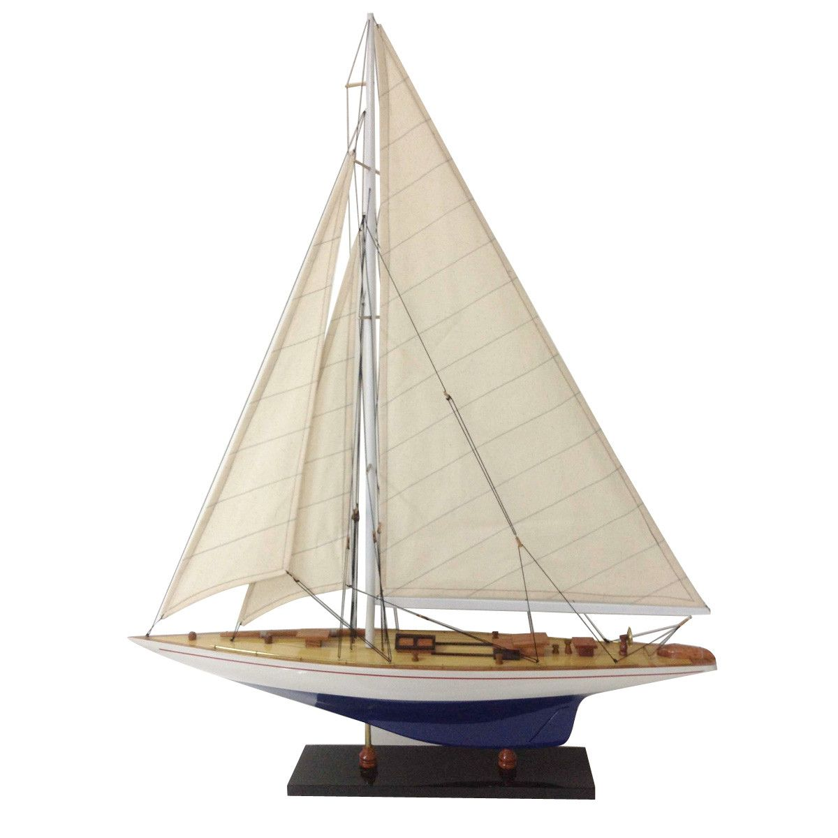 Wooden Toy Sailboat Made in USA Rainbow Sail Boat