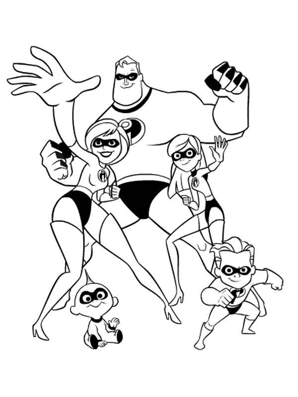 Awesome Back To Coloring Pages Mr Incredible And You Can Print It