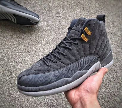 lowest price 6fd2e 15b64 2017 2018 Daily Authentic Cheap Air Jordan 12 Retro Dark Grey Wolf_Grey  130690 005 Basketball Shoe For Sale