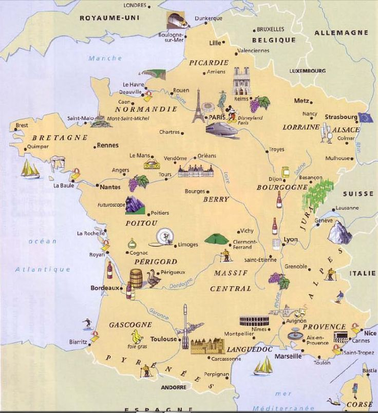 Map Of France France Map French Lessons Teaching French