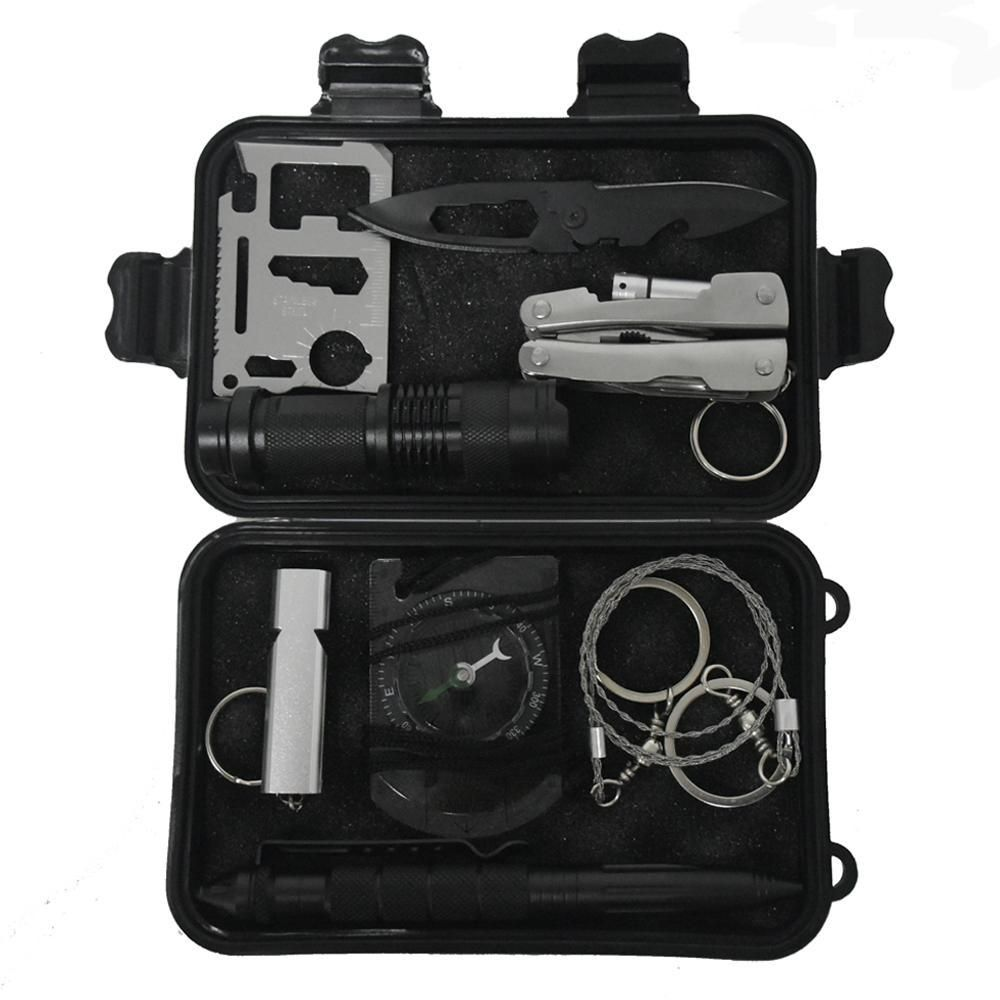 New Self-help Box SOS Equipment Outdoor Camping Hiking Survival Emergency Kit
