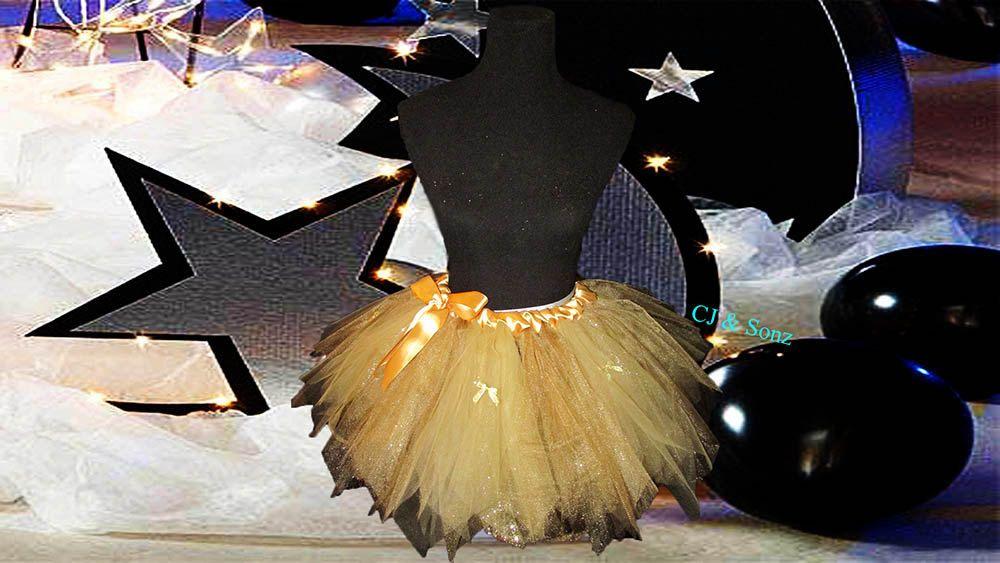 Ladies Golden Tulle Skirt by NayomiInspired on Etsy