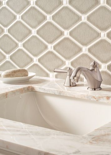 Best Dove Gray Diamond Mosaic Backsplash Tile From The Highland 400 x 300